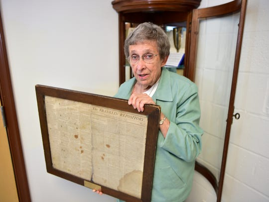 Historian Joan Bowen has moved all of the Chambersburg