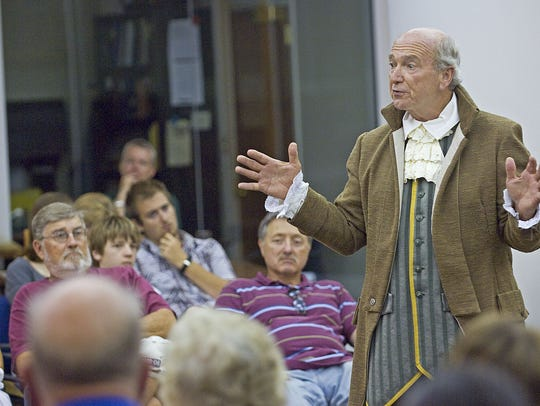 Dick Pack, of Lewes, portrays Caesar Rodney on July