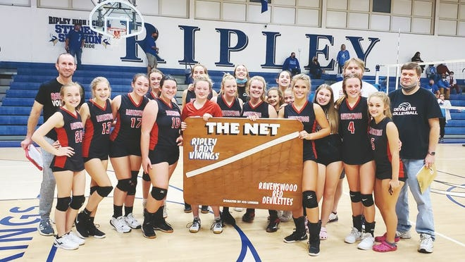 After a year with the Lady Vikings, The Net now resides in Ravenswood once again following the Red Devilettes win over Ripley on Monday night at the Health Center.
