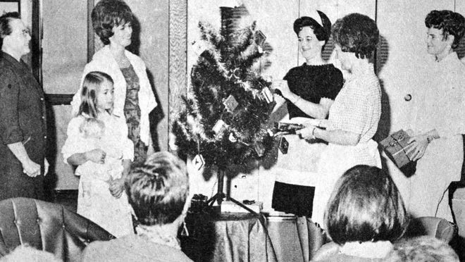 """""""Mrs. Santa Claus"""" was the theme of the Belles Lettres Study Club's skit which was given at the Redwood County Nursing Home, as seen in this photo that first appeared in the Nov. 5, 1970 edition of the Redwood Gazette."""