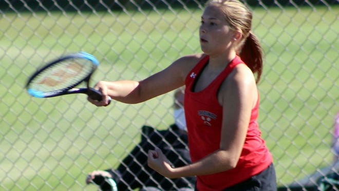 Anneliese Hammer competed at second doubles for the Cardinals.