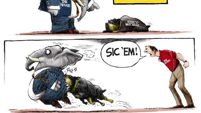Cartoon for Jan. 6, 2017.