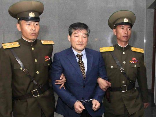 Kim Dong Chul, uno de los estadounidenses excarcelados por el gobierno de Norcorea.