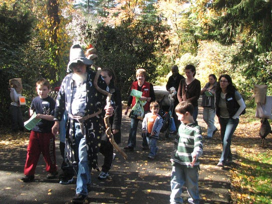 Friendly scarecrows come alive  during the Greenburgh