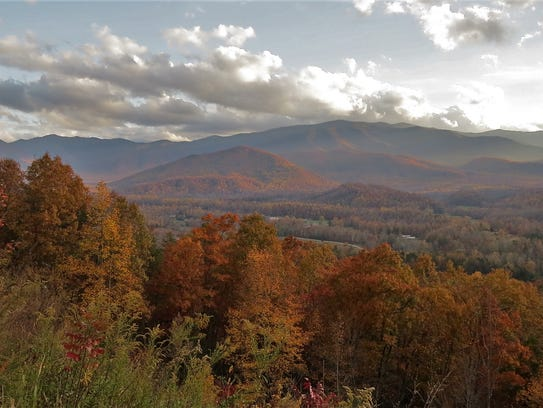 John Barker photographed fall foliage from the Foothills