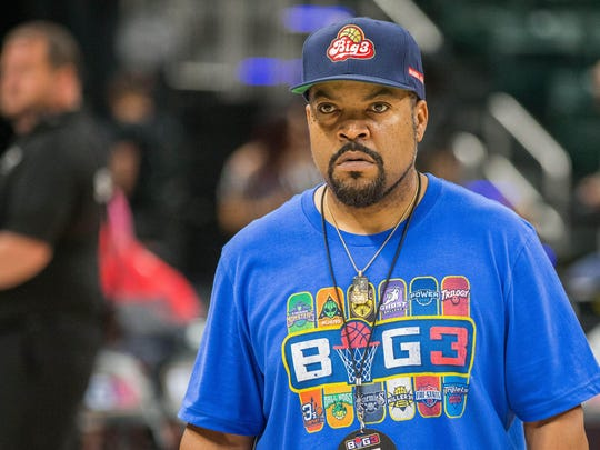 BIG3 cofounder Ice Cube at the 2019 opening weekend game in Indianapolis.