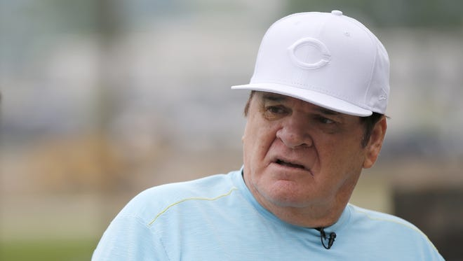 Pete Rose chatted with Enquirer columnist Paul Daugherty earlier this month.