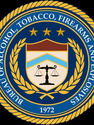 The seal of the federal Bureau of Alcohol, Tobacco, Firearms and Explosives.