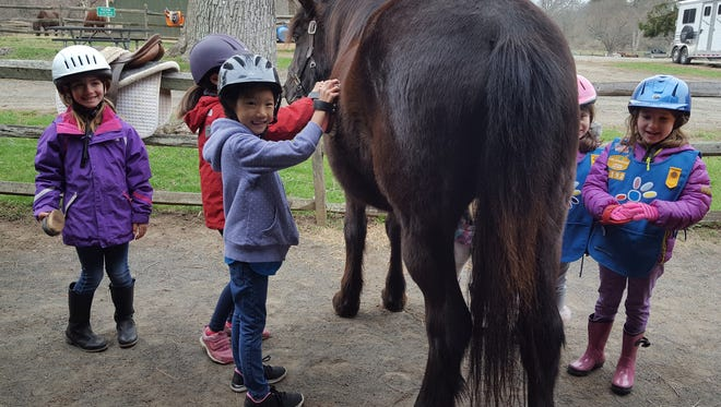 """Children are invited to """"Meet the Ponies"""" at Lord Stirling Stable, 256 South Maple Ave.in the Basking Ridge section of Bernards,on Saturday, July 28."""