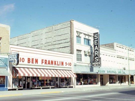 1966 street scene, showing part of Main street between