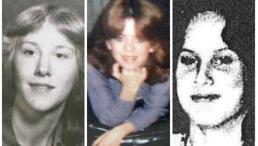 Anne Marie Doroghazi (left),  Kim Louiselle (center) and Christina Castiglione were murdered in the early 1980s. Their cases remain unsolved.