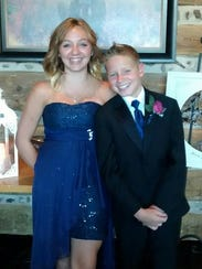 Ella Glass with her younger brother Ethen.