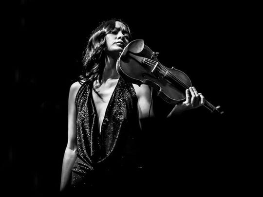 Lucia Micarelli, barefoot violinist, plays eclectic Asheville show