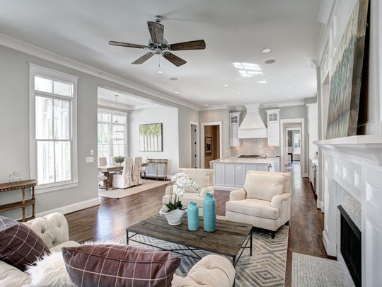 The family room is bright and spacious.