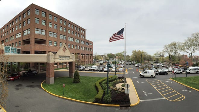 Exterior on the main entrance at Monmouth Medical Center in Long Branch.