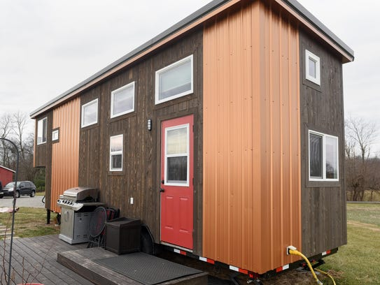 This tiny house is located in Ohio. Tiny homes often