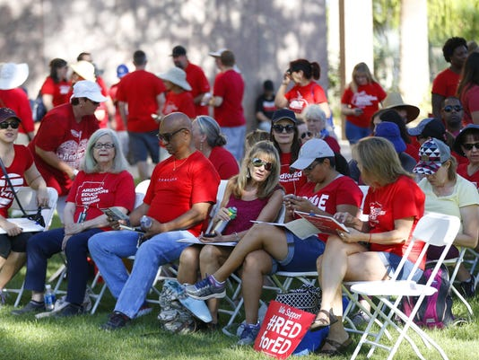 RedforEd event