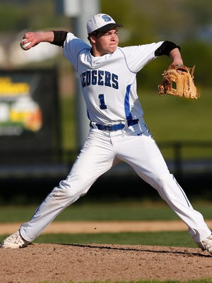 St Mary's Springs High School's Blake Bauer pitches against Lomira on Tuesday afternoon, May 17, 2016, in Fond du Lac. Springs went on to win the game 11-1 in five innings.