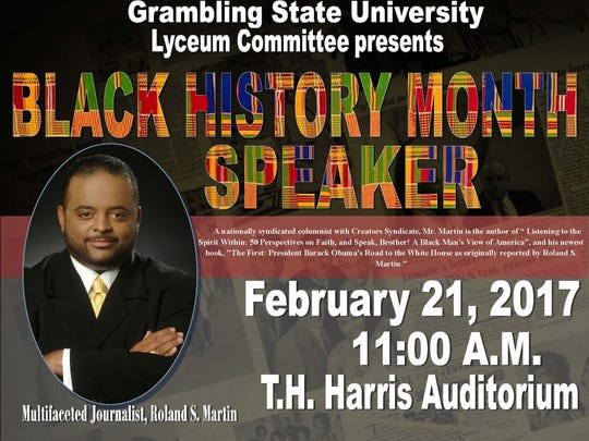 Grambling State University Lyceum Committee presents Black History Month Speaker Roland S. Martin.