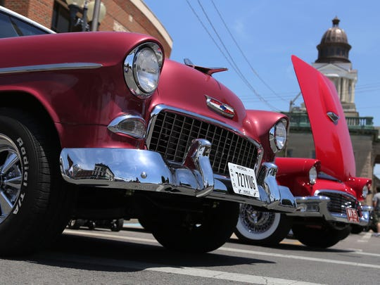 Downtown Bucyrus was host to the Cruisin' with Cops on Saturday afternoon.