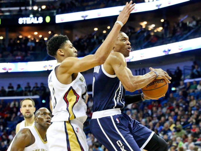 Danger! Anthony Davis' Pelicans and Russell Westbrook's