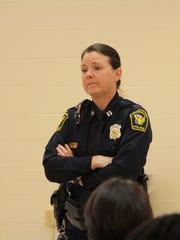 Cincinnati police Capt. Maris Herold fields questions