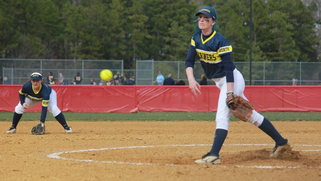 Lauryn Schuber helped Toms River North to a 4-1 win over Jackson Liberty with a complete game effort in the circle.