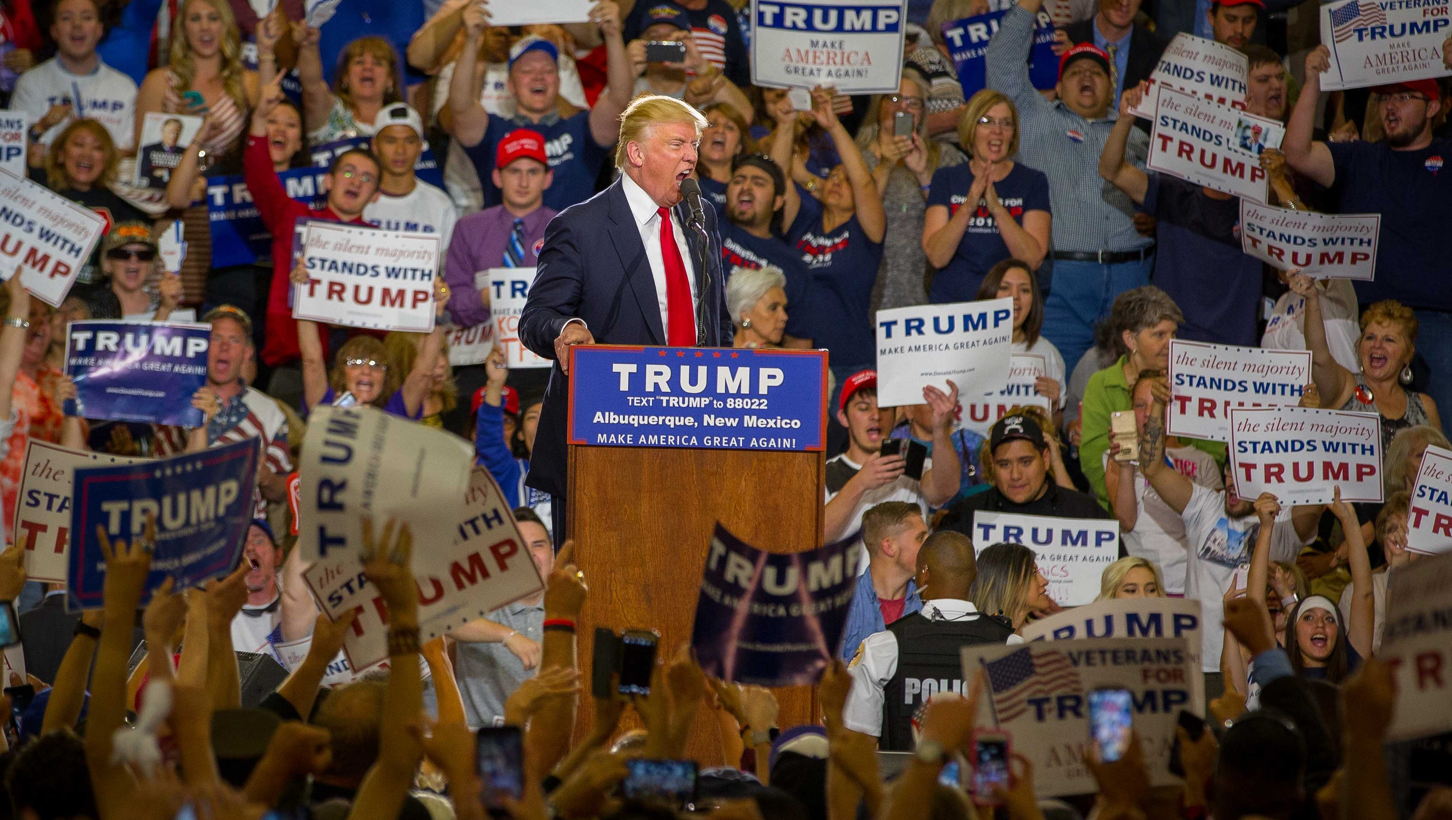 Trump, Bill Clinton rally supporters in New Mexico