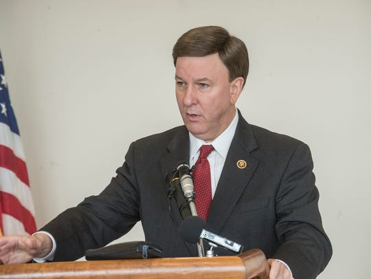 Rep. Mike Rogers, R-Ala., speaks at the Montgomery