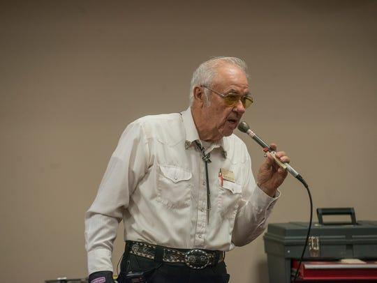 Wayne Nicholson, who is celebrating 70 years of square