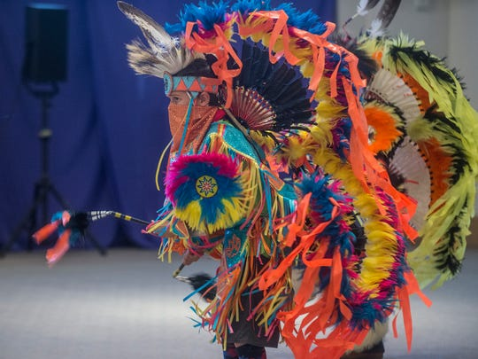 Dancers perform as the Poarch Band of Creek Indians' rich heritage came to life at the Montgomery Museum of Fine Arts on Saturday, March 11, 2017, during Native American Family Day.