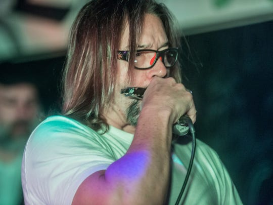 Singer and harp player Lance Lisenby of 7 Hand Slap rocked The Thirsty Turtle on Saturday, April 22, 2017.