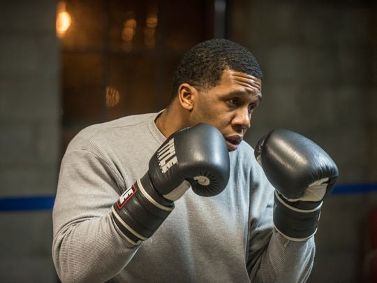 Valdez Williams warms up in the ring on Monday, Jan. 8, 2018, at Faith Boxing in Montgomery. He'll be boxing this weekend at the Sugar Bert Boxing National Qualifier at Montgomery's Cramton Bowl Multiplex.