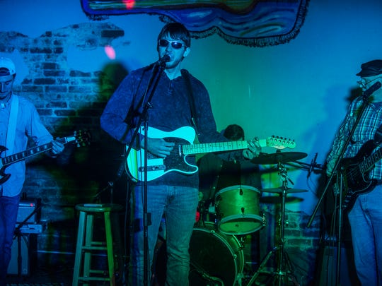 Russell Craig with his band at Bezlo's Bar & Grill in Eclectic on Jan. 5, 2018.