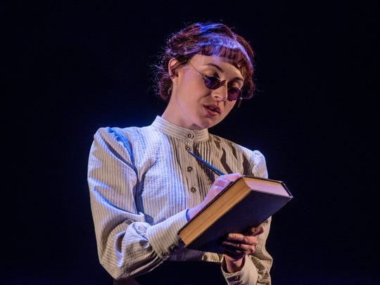 """Marina Shay as Anne Sullivan in a  scene from """"The Miracle Worker"""" during a run through Friday, March 2, 2018, at the Alabama Shakespeare Festival in Montgomery, Ala."""