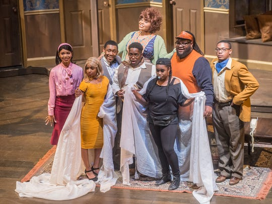 "A scene from Alabama State University's ""Noises Off"""