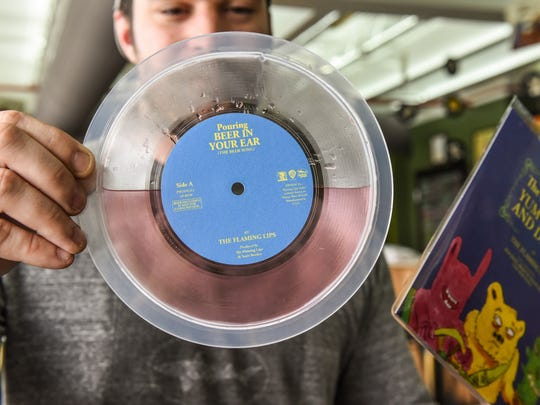 Dogfish Head and The Flaming Lips will release 100 copies of beer-filled vinyl on Record Store Day.