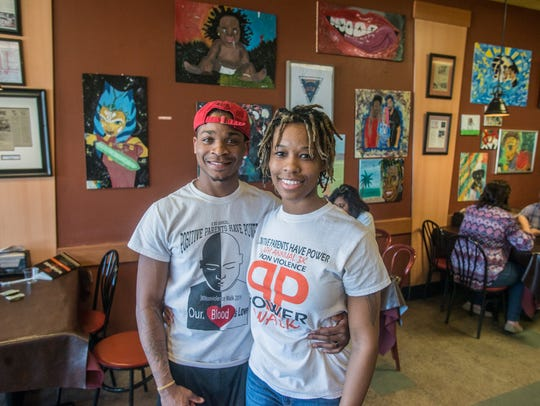 Aleah Hosea and her husband, Bradley,  at Montgomery's
