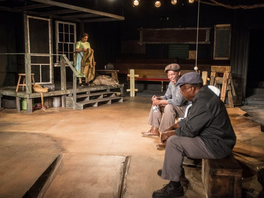 "The play is set in an alley style at the Cloverdale Playhouse, with seating on each side of the set. Rehearsal for ""Fences"" at Cloverdale Playhouse on Tuesday, April 24, 2018."