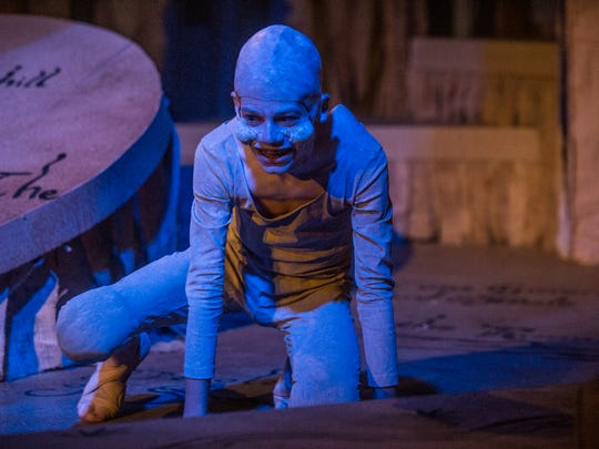 """Landon Perdue (Gollum) in a scene from """"The Hobbit."""" The Cloverdale Playhouse's new production of J.R.R. Tollien's """"The Hobbit"""" opens on Thursday, July 19, 2018."""