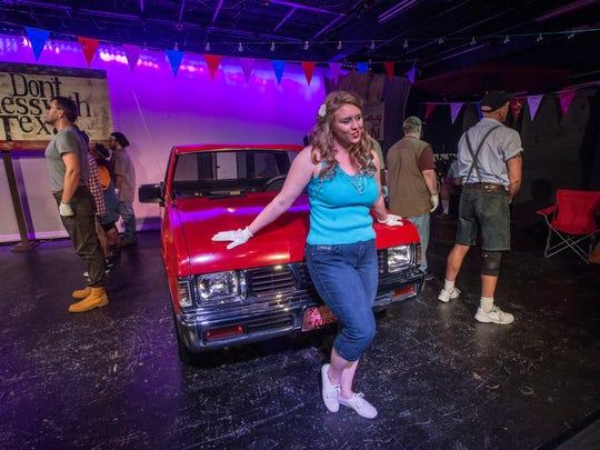 Wetumpka Depot Players cast member Lindsey Justus rehearses