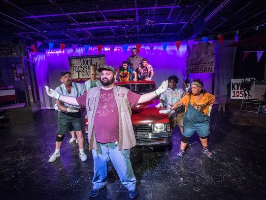 Wetumpka Depot Players cast member Chris Kelly, front,