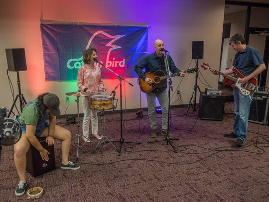 The band Cotton Bird performed recently at the Montgomery