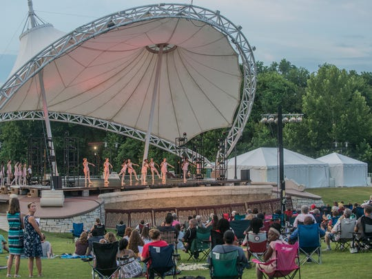 The crowd watches as Alabama Dance Theatre presents Stars on the Riverfront on July 29 ad 30, two days of free ballet at Montgomery's Riverwalk Amphitheater.
