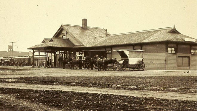 Salem Railroad depot is seen sometime prior to 1917.