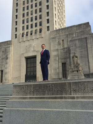 Attorney General Jeff Landry was posing for a new official photograph on the Capitol steps Wednesday.