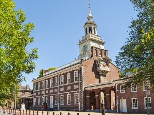 Independence Hall, Philadelphia: Uncover the birthplace of a nation in some 20 city blocks, with the UNESCO-designated Independence Hall as its centerpiece. In this modest brick structure topped by a bell tower, the Declaration of Independence was drafted and the thoroughly American experiment with democracy begun.