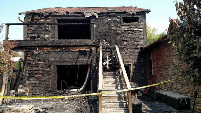 The Wysteria Inn in Weaverville sustained heavy damage in a fire last month.