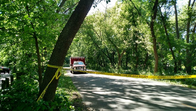 Greenbelt Trail in Clive closed as police investigate a fatal bike accident.