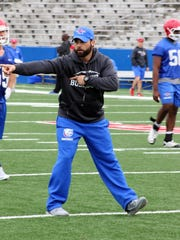 Louisiana Tech defensive coordinator Blake Baker is